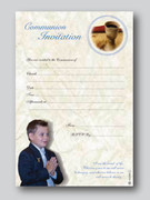 Invitation Set: Communion Boy (20)(INC6680)