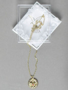 Confirmation Gift: Dove Rhineston Pendant and Chain (JE51347)