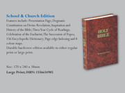 Bible: School and Church Edition (Large Print)