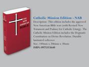 Study Bible, Catholic Mission Edition, NAB