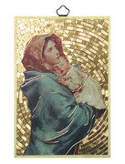 Gold Foil Wood Plaque: Ferruzzi (PL1740)