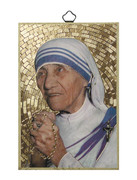 Gold Foil Wood Plaque: Mother Teresa (PL1741)
