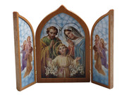 Tri-fold Plaque: Holy Family (PL112404)