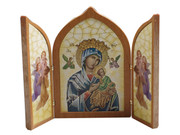 Tri-fold Plaque:  Our Lady Perpetual Succour (PL112433)