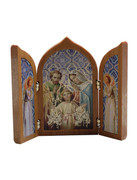 Small Tri-fold Plaque: Holy Family (PL11204)