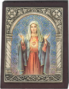 Desk Plaque: Immaculate Heart of Mary (PL27302)