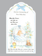 Packet Cards (12): Christening: Boy / Ribbon (CDB2270)