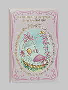 Christening Keepsake/Card: Girl (CDB4098)
