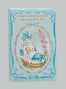 Christening Keepsake/Card: Boy (CDB4097)