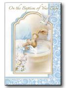 Baptism Keepsake/Card: Boy (CDB7854)