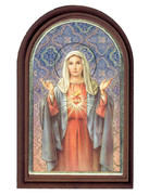 Plastic Standing Plaques: Immaculate Heart Mary (PL122902)