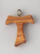 Tau Cross (Small): Olive Wood 25mm (CRT2C)
