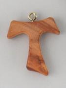 Tau Cross (Small): Olive Wood 45mm no cord (CRT8)