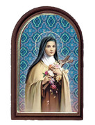 Plastic Standing Plaques - ST.THERESA