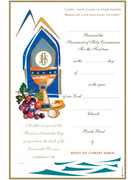 Communion Certificate, Stylized Cup/Window