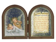 Plastic Bi-fold Plaque Angel & Baby