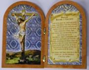 Bi-fold plastic plaque: Crucifix (PL1111C)
