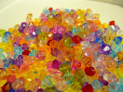 Acrylic Bicone Beads 6mm Mix x 1000