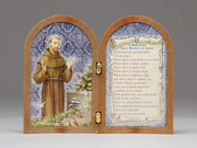 Bi-fold plastic plaque: St Francis (PL111112)