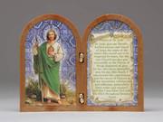 Bi-fold plastic plaque: St Jude (PL111117)