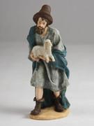 Shepherd with Sheep, 15cm