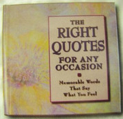 Inspirational Gift Books - The Right Quotes