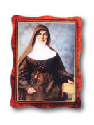 Hanging Wood Look Plaque: Mary MacKillop