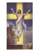 Easter Holy Card: Jesus Risen (each)(HC2122e)