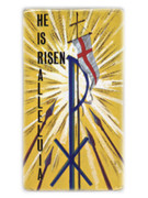 Easter Holycard: He is Risen Alleluia (pk100)