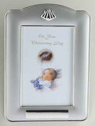 Christening Silver Finish Photo Frame