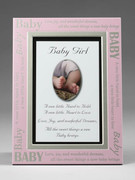 Baby Gift: Baby Girl Message Frame (PL430G)