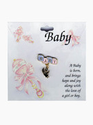 Baby Lapel Pin: &quot;BABY&quot; &amp; Angel
