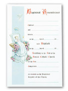 Certificate, Bapismal Remembrance