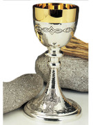 Chalice: Mixed Colour Etched Cross