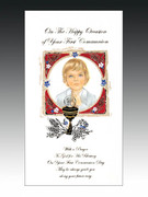 "Communion Cards (each): Boy ""On this Happy..."