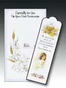 Communion Cards (each): Bookmark Girl