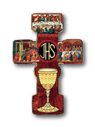 Wooden Cross: Last Supper Medium (CRC03M)