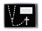Communion Vision Rosary: White