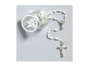 Communion Rosary: Pearl White