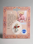 Birthstone Crystal Angel Pin: January