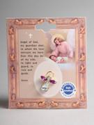 Birthstone Crystal Angel Pin: February