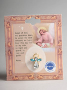 Birthstone Crystal Angel Pin: March