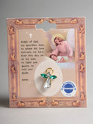 Birthstone Crystal Angel Pin: May