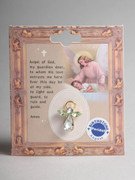 Birthstone Crystal Angel Pin: August