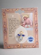 Birthstone Crystal Angel Pin: September