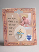 Birthstone Crystal  Angel Pin: December