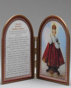 INFANT OF PRAGUE GLASS PLAQUE