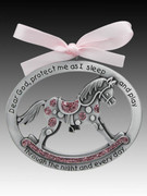 Crib Medal: Rocking Horse Glitter Girl