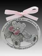 Crib Medal: Teddy Bear Glitter Girl