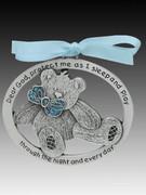 Crib Medal: Teddy Bear Glitter Boy